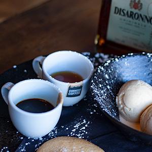 Coffee+desert at SaltyBayPizzaKitchen